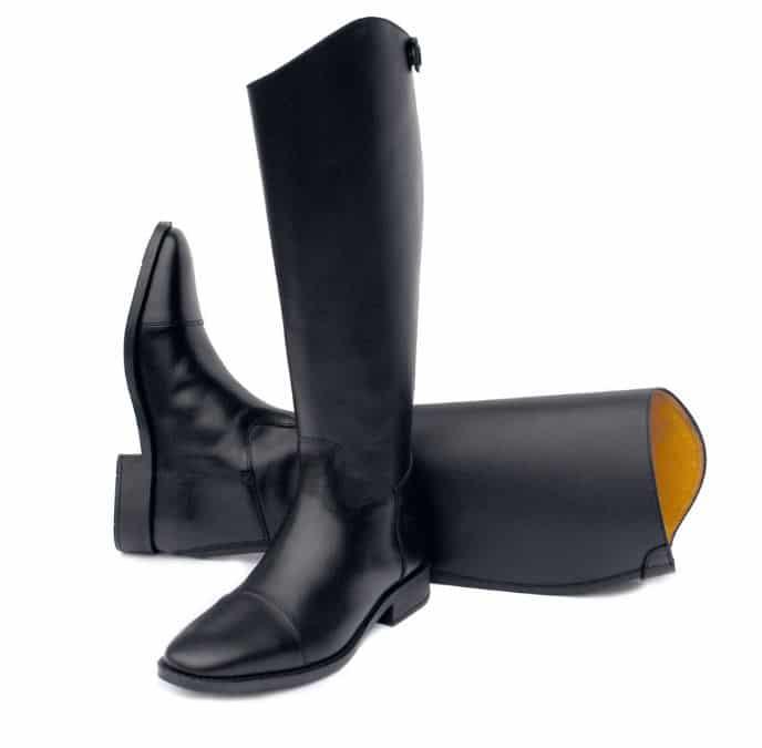Botas de equitación doma cuero negro