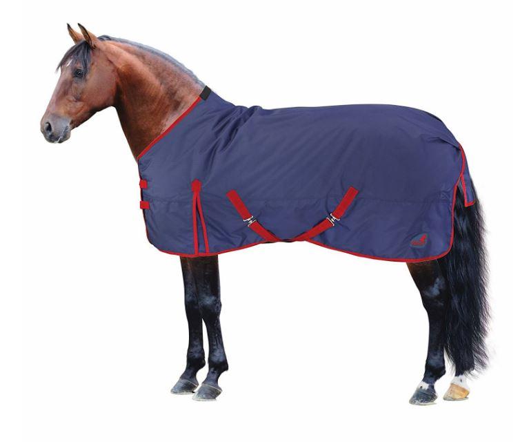 Capa impermeable azul para poni