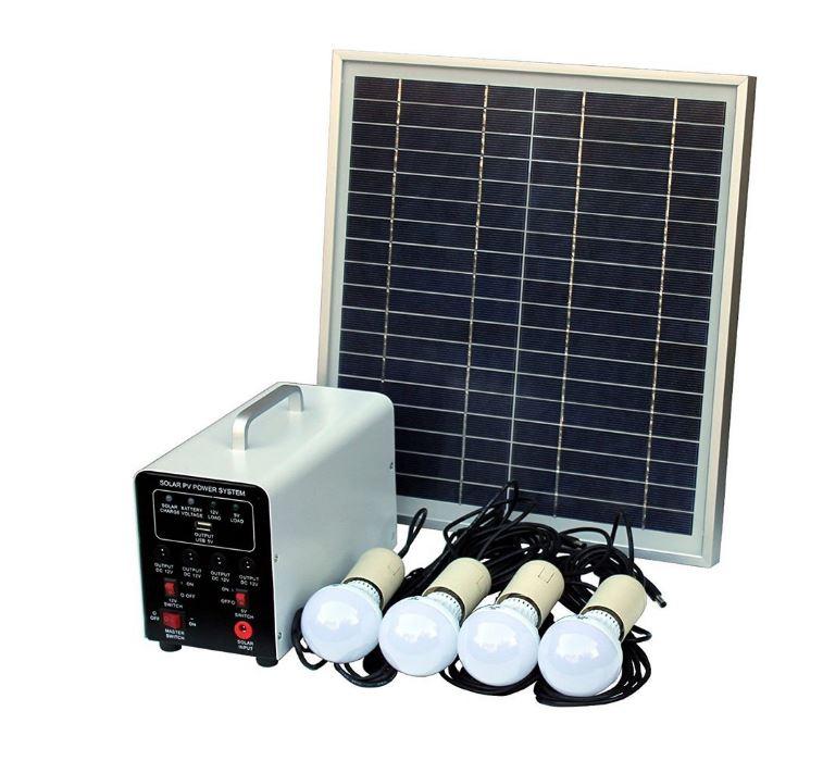 Kit luces solar batería