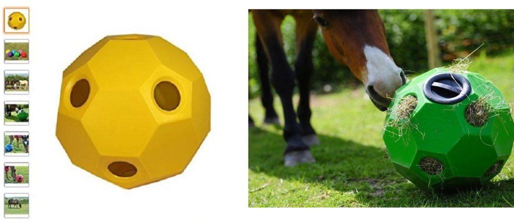 pelota dispensadora de heno para caballos