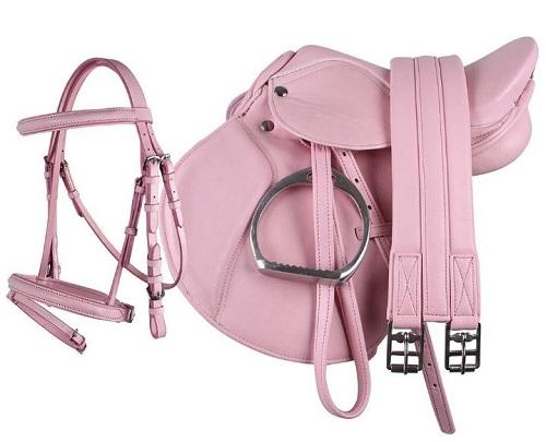 Silla de poni rosa